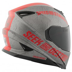 Casque SS1600 Cruise gris rouge, taille L