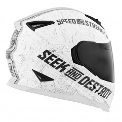Casque Speed and Strength blanc/gris mat, taille L