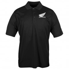 Polo Honda Big Wing noir homme, taille L