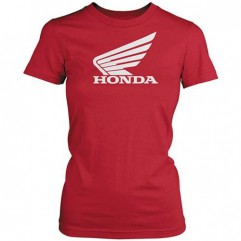 T-shirt Honda Big Wing femme rouge, taille M